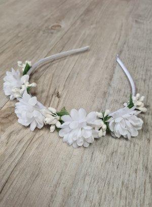 serre tete cérémonie mariage communion avec fleur blanches