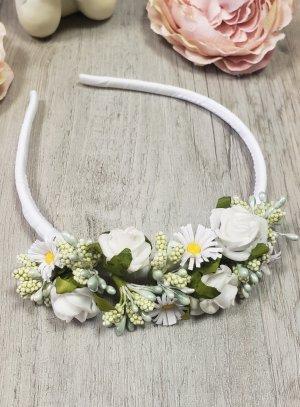 serre tête coiffure de cérémonie enfant bouquet de fleurs