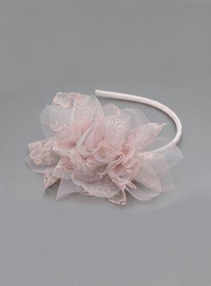 serre tête rose poudre pour coiffure mariage enfant ou adulte