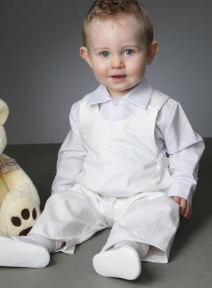 tenue baptême mariage bébé garçon blanche