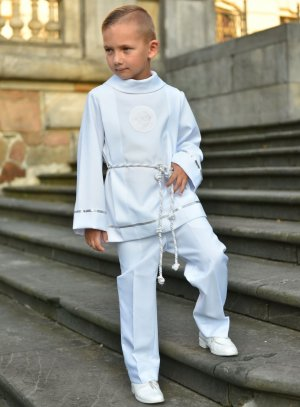 tenue communion garçon  - costume blanc communion