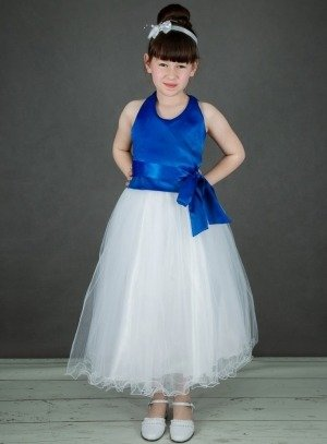 robe de cérémonie fille bleu roy