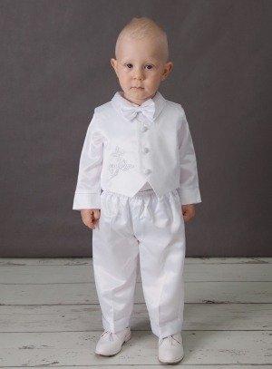 tenue de baptême blanche garçon