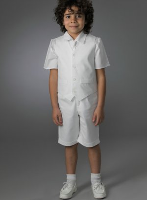 Bermuda blanc mariage garçon tenue complète
