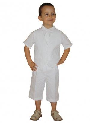 bermuda blanc tenue garcon