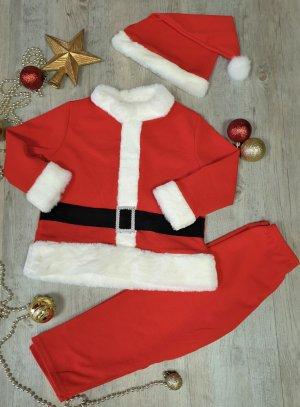 Tenue costume père Noël enfant + bonnet