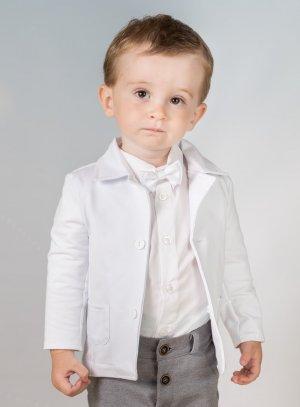 veste blanche bébé garçon
