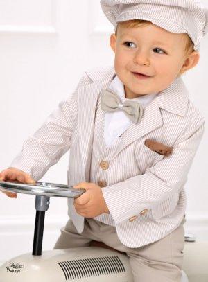 veste costume garçon beige