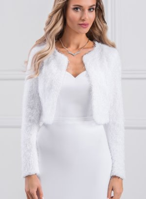 veste cérémonie femme blanche