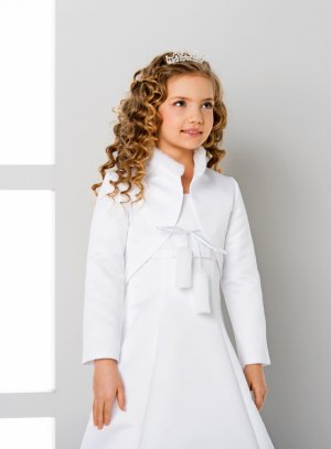 veste mariage enfant satin blanc