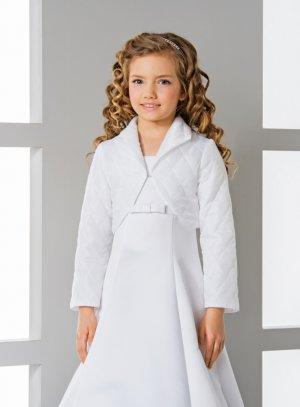 veste cérémonie fille blanche matelassée