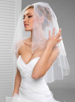 voile court mariage blanc
