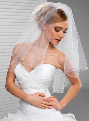 Voile robe de mariée blanc