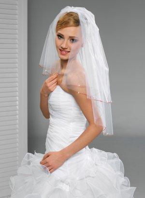 Voile mariée rouge - Boutique Magique Mariage blanc