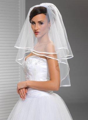 voile mariée blanc coude