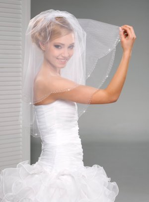 Voile mariée cathédrale blanc