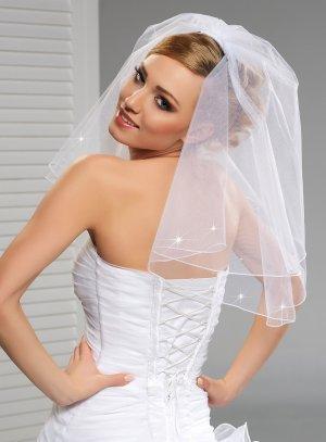 Voile de mariée court blanc