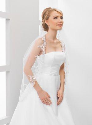 Voile mariée long dentelle blanche