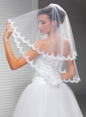 voile robe de mariée dentelle blanche