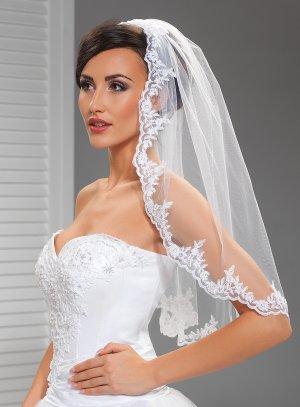 voile de mariée dentelle blanc