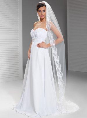voile mariée blanc long cathédrale