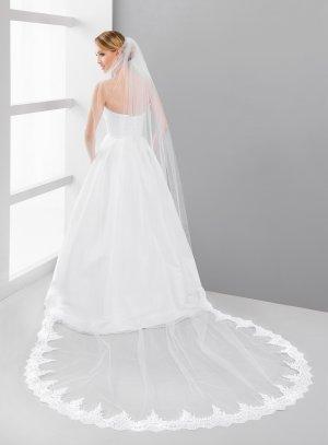 Voile de mariée cathédrale blanc