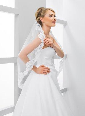 Voile de mariée dentelle ancienne blanc