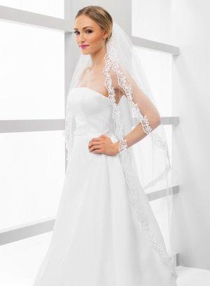 Voile de mariée long blanc