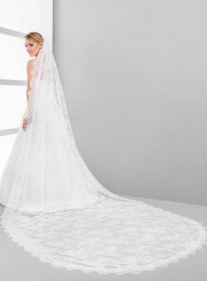 Voile en dentelle pour mariage blanc