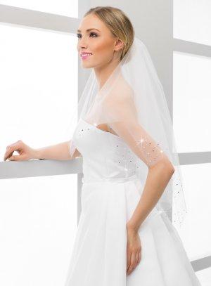Voile mariée avec strass pas cher blanc