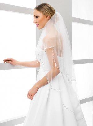 Grand voile de mariée blanc