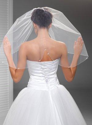 voile pour la mariée blanc avec goutte