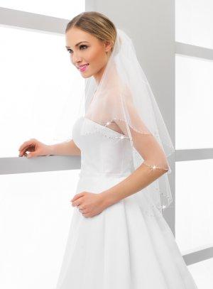 Voile pour mariée pas cher blanc