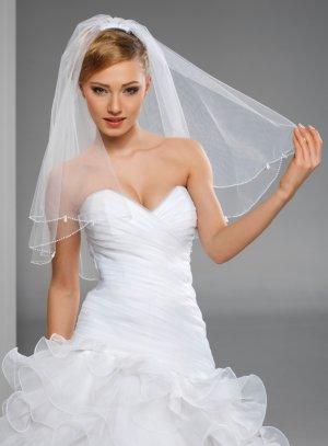 Voile perlé blanc - Boutique française de voiles de mariée de qualité