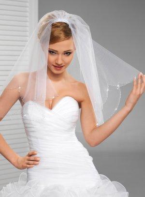 Voile mariée blanc perles et gouttes - Boutique Mariage