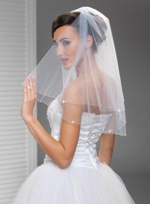 voile mariée blanc avec petites perles