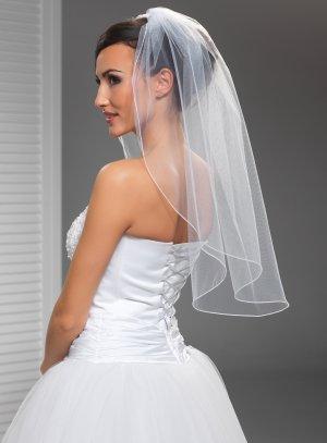 voile de mariée simple blanc