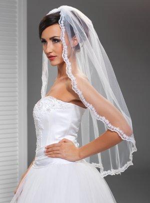 voile espagnol mariée blanc