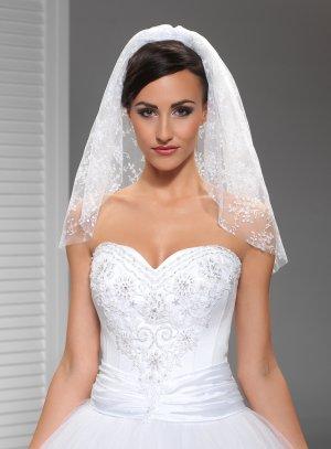 Petit voile mariée blanc