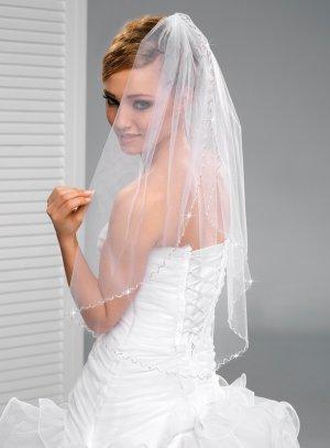 voile de mariage pas cher blanc