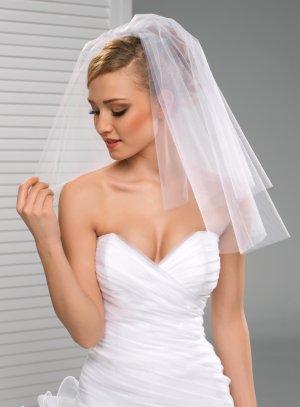 voile de mariée court pas cher blanc