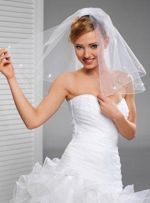 Voile mariée strass blanc - Boutique Cérémonie France